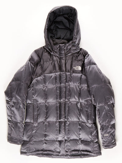 The North Face 600 Quilted Metallic Coat With Hood / Grey / Medium
