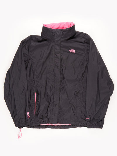 The North Face DryVent Waterproof Coat With Hood / Black / Pink / XXXL