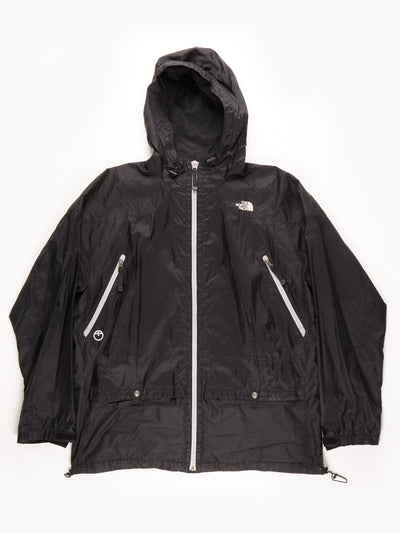 The North Face Steep Tech Waterproof Coat With Hood / Black / Grey / XL