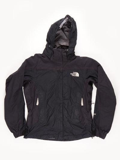 The North Face HyVent Waterproof Lined Coat With Hood / Black / Grey / Small