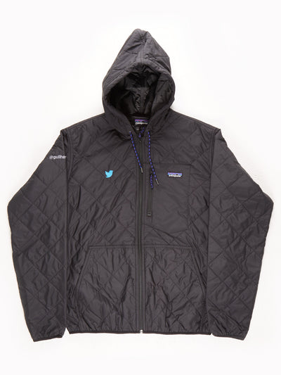 Patagonia Quilted Jacket With Hood / Dark Grey / Large