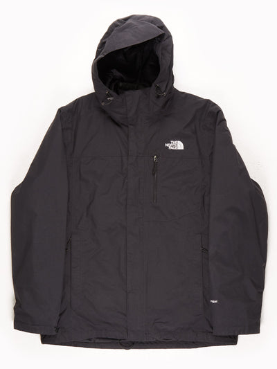 The North Face HyVent Waterproof Coat With Hood / Black / Large