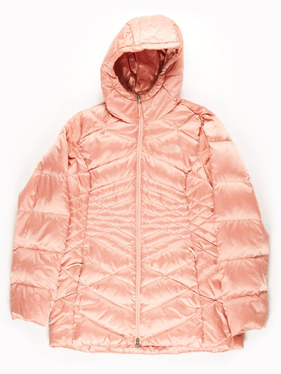 The North Face 550 Metallic Mid Length Quilted Coat / Dusty Pink / Large