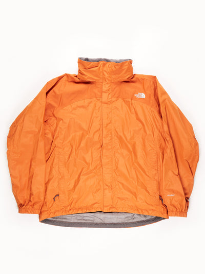 The North Face HyVent Waterproof Jacket With Hood / Orange / XL