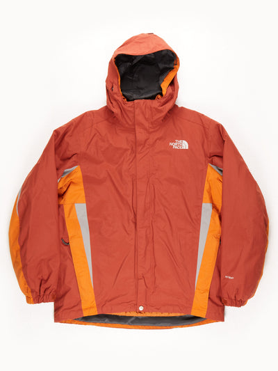 The North Face HyVent Waterproof Padded Double Coat With Hood  / Orange / Brown / Grey / Medium