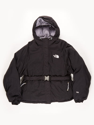 The North Face 550 Puffer Hooded Belted Coat / Black / Large