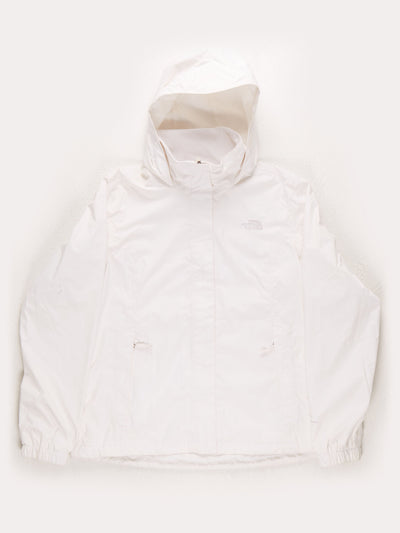 The North Face Waterproof DryVent Hooded Jacket / White / Large