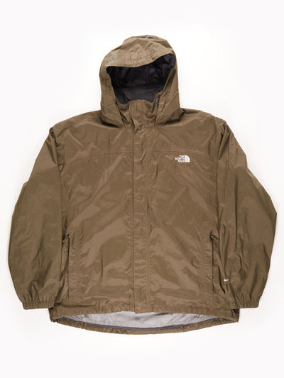 The North Face Waterproof HyVent Jacket With Hood / Khaki / XXL