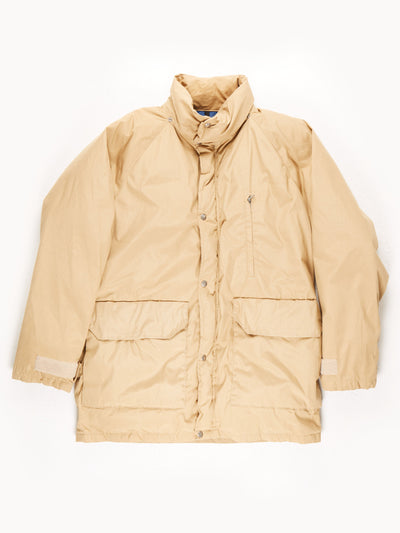 The North Face Padded Military Style Coat / Beige / Large