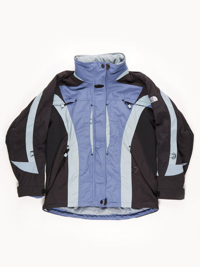 The North Face Explorer Coat With Fold Away Hood / Blue / Black / Grey / Medium