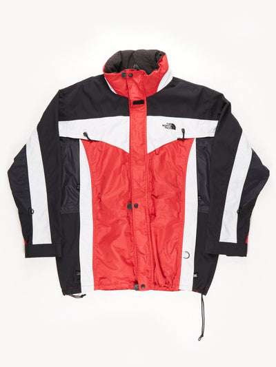 The North Face Waterproof Expedition Coat / Black / Red / White / XL