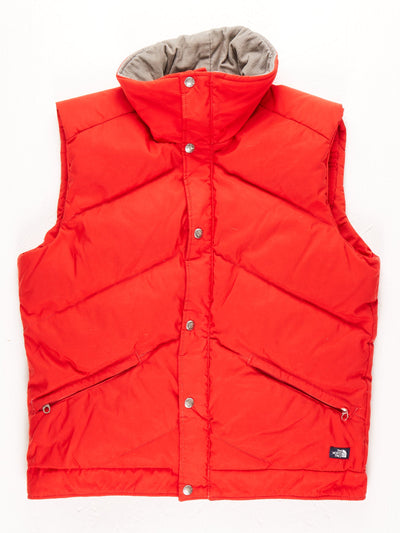 The North Face Puffer Gilet With Cord Neckline / Red / Large