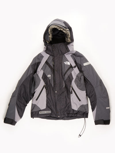 The North Face Steep Tech Expedition Coat With Fur Trim Hood / Grey / Black / Medium