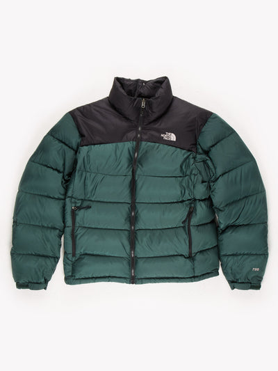 The North Face Puffer Jacket Black/Green Size Mens Medium