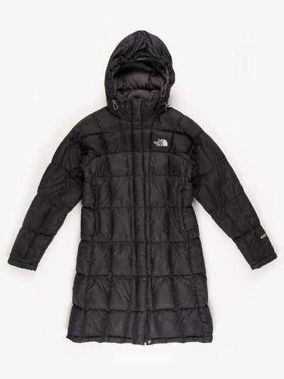 The North Face Womens Longline Puffer Jacket Black Size Small