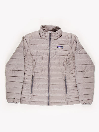Patagonia Womens Puffer Jacket Silver Size Small