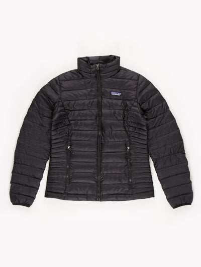 Patagonia Womens Puffer Jacket Black Size Small