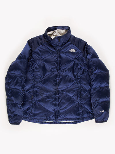 The North Face Womens Puffer Jacket Blue Size XL