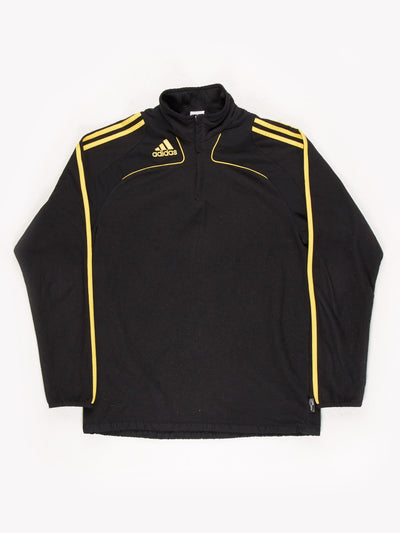 Adidas Fleece Black/Yellow Size Medium