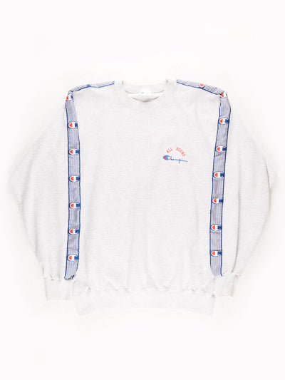 Champion Sweatshirt / Grey / Blue / Red