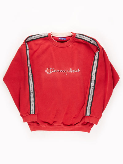 Champion Sweatshirt / Red / White / Black /  XXL