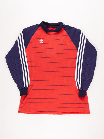 Adidas Football Shirt with Collar / Red / Blue / White / Small