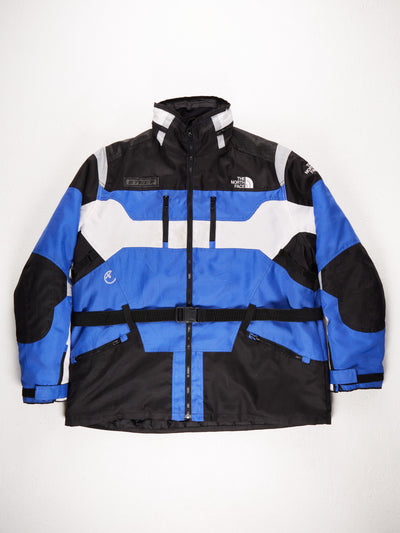 The North Face 'Steep' Expedition Coat with Fold Away Hood / Blue / Black / White /