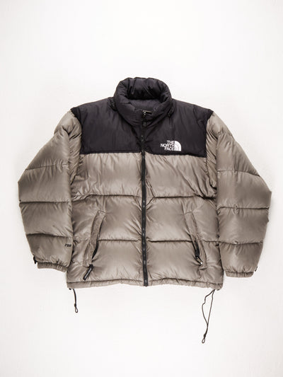 The North Face 700 Puffer Coat / Grey / Black / Size Large