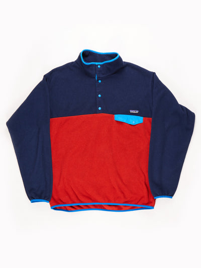 Patagonia Fleece Blue/Red/Navy Size Mens XL