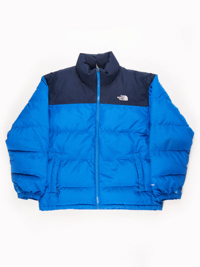 The North Face 550 Puffer Jacket Black/Blue Size Mens XL