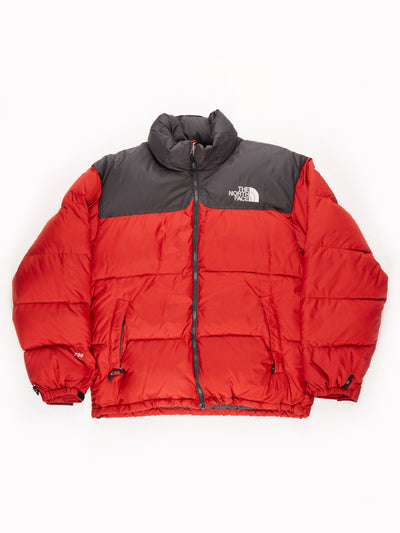 The North Face 700 Puffer Jacket Black/Red Size Mens Large
