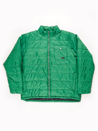 The North Face Puffer Jacket Green Large