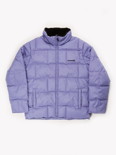 Kickers Puffer Jacket Purple/Black Size UK10