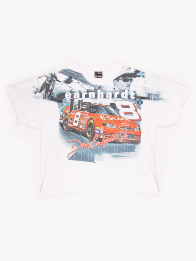 Dale Earnhardt Jr Nascar T-Shirt White/Grey/Red Size XXL