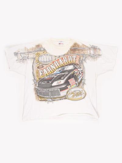Dale Earnhardt Racing T-Shirt White/Black/Red Size XXL