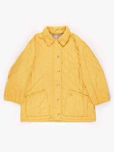 Burberry Quilted Jacket Yellow Size XL