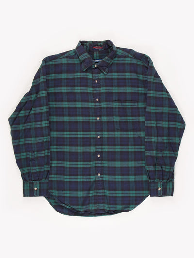 Burberry Check Button Up Shirt Blue/Green Size XXL