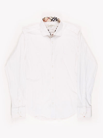 Burberry Slim Fit Button Up Shirt White XL