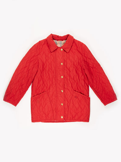 Burberry Quilted Jacket Red Size Medium