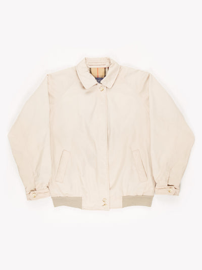 Burberry Zip Up Jacket Beige Size UK10