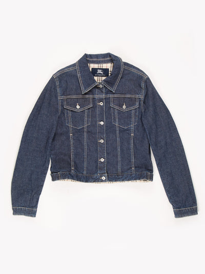 Burberry Denim Jacket Blue Size UK14