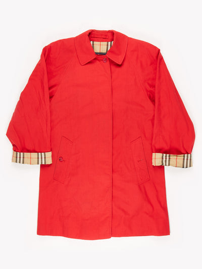 Burberry Trench Coat Red Size UK12
