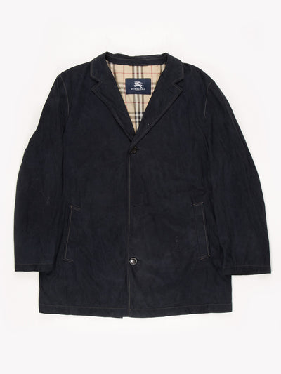 Burberry Suede Jacket Navy Size 28