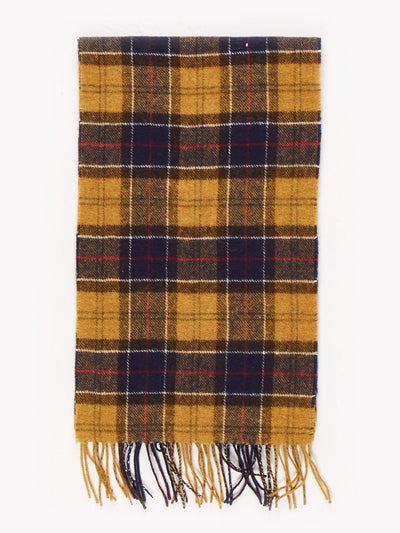 Barbour Wool Scarf Yellow / Blue