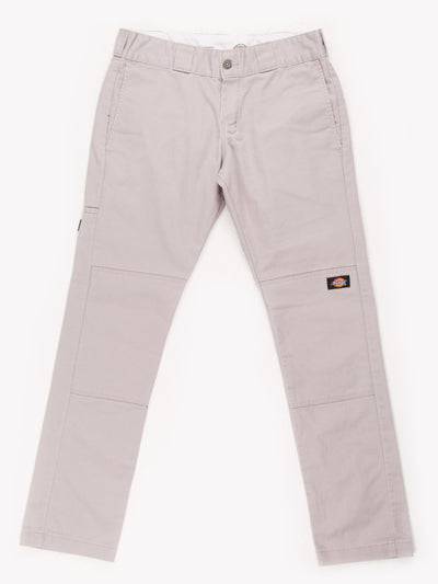 Dickies Skinny Striaght Double knee Trousers Grey Size 30x28