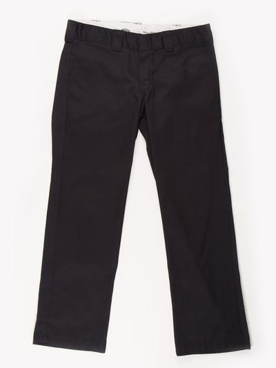 Dickies Slim Straight Trousers Black Size 34x29