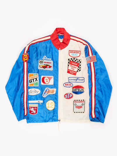 Vinatge Nascar Jacket Blue / White / Red Size XL