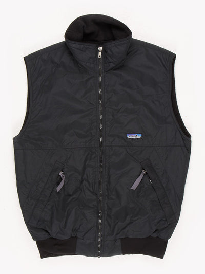 Patagonia Fleece Lined Gilet Black Size Small