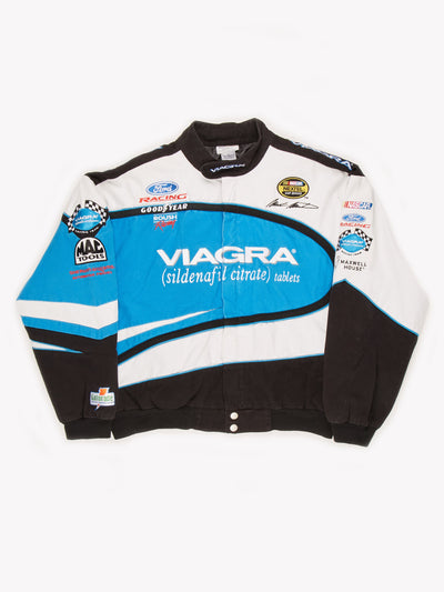 NASCAR Viagra Roush Racing Jacket Blue / White / Black Size XL