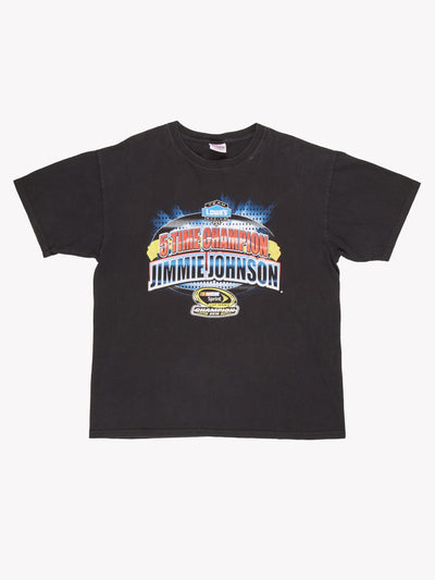 NASCAR Jimmie Johnson T-Shirt Black / Blue / Yellow Size XXL